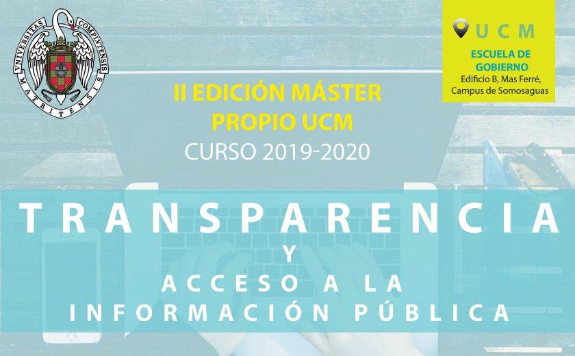Master en Transparencia y Acceso a la Información Pública - Universidad Complutense Madrid